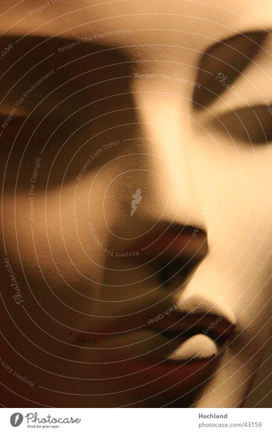 Gesicht 04 Frau schön Auge Mund Nase Puppe Schaufensterpuppe