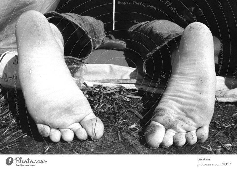 Füße Zelt Camping Freizeit & Hobby schlafen Barfuß Mensch Fuß