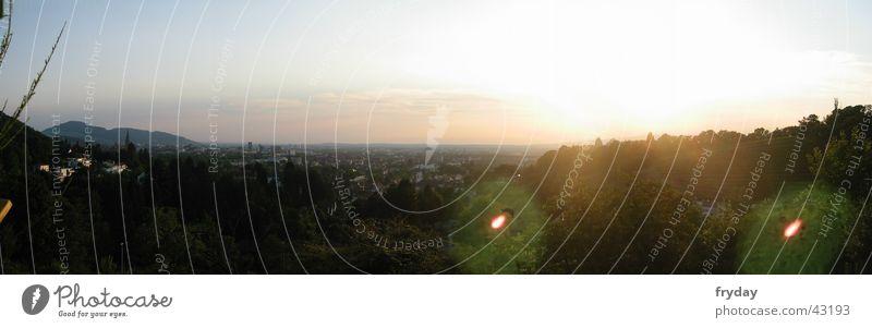 Freiburger Sonnenuntergang Stadt Berge u. Gebirge groß Panorama (Bildformat) Münster Weinberg Freiburg im Breisgau