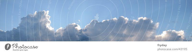 wolkenwand II Panorama (Aussicht) Weitwinkel Horizont Wolken Lamm Wolkenwand blau groß Panorama (Bildformat)