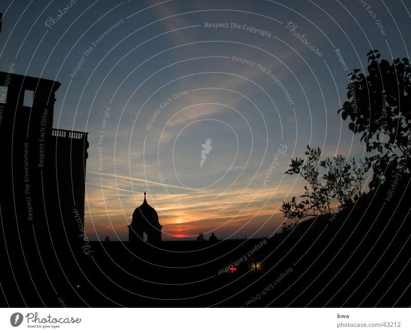 HEIDELBERG Heidelberg Sonnenuntergang Burg oder Schloss siluette