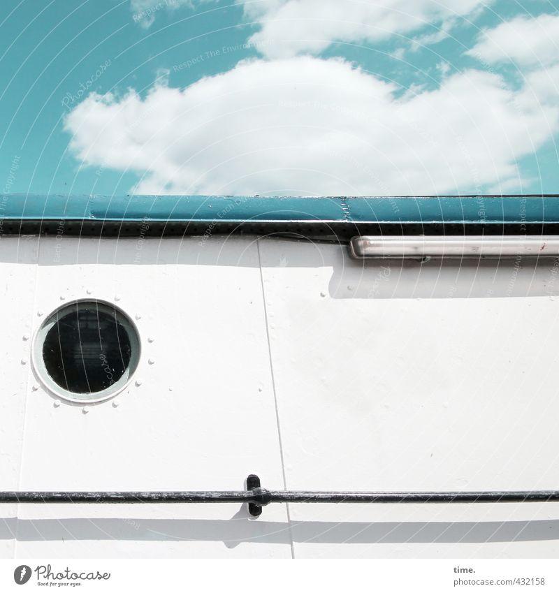 Heimatplanke Ferien & Urlaub & Reisen blau Sommer ruhig Wand Mauer Freiheit Zeit Lampe Stimmung Wohnung Fassade elegant Zufriedenheit Energiewirtschaft Häusliches Leben