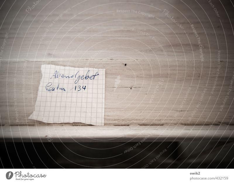 Abendgebet Papier Zettel Holz Schriftzeichen Ziffern & Zahlen liegen einfach klein nah Verlässlichkeit Glaube Problemlösung Ordnung planen Religion & Glaube