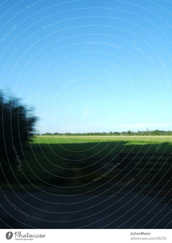 Flachland Ebene Niederlande Natur Fahrtaufnahme Landschaft Himmel Erde