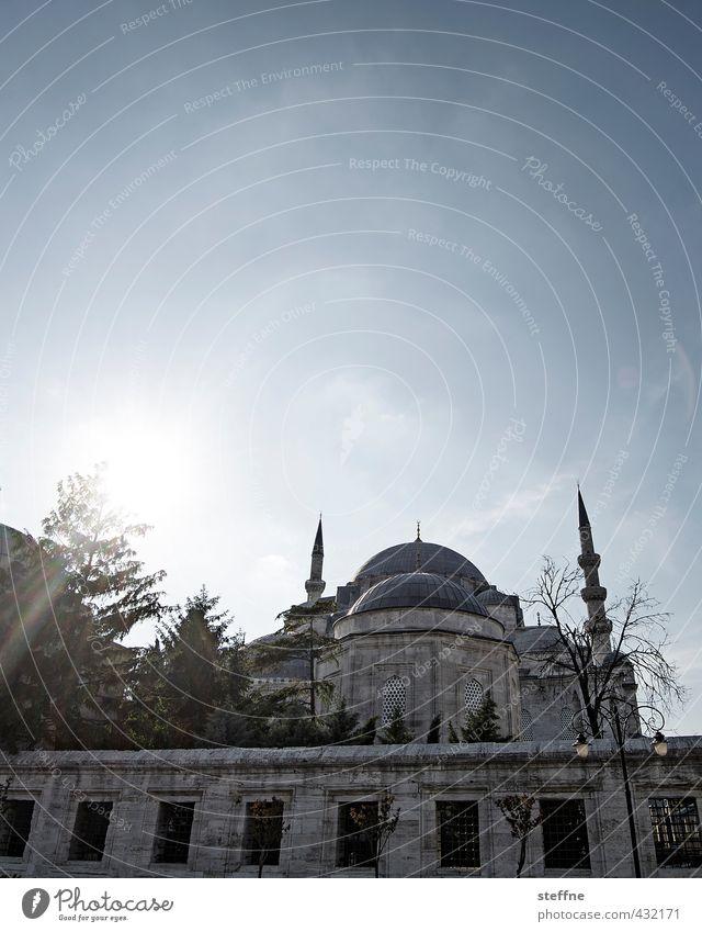 Göttliche Erleuchtung Sonne ruhig Religion & Glaube ästhetisch Schönes Wetter Frieden Gebet Gott Erkenntnis Istanbul Islam Moschee Minarett Süleymaniye Moschee