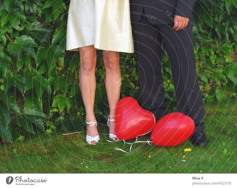 Paar Feste & Feiern Hochzeit Mensch Partner Leben Beine 2 18-30 Jahre Jugendliche Erwachsene Frühling Sommer Pflanze Park Bekleidung Glück Gefühle Stimmung