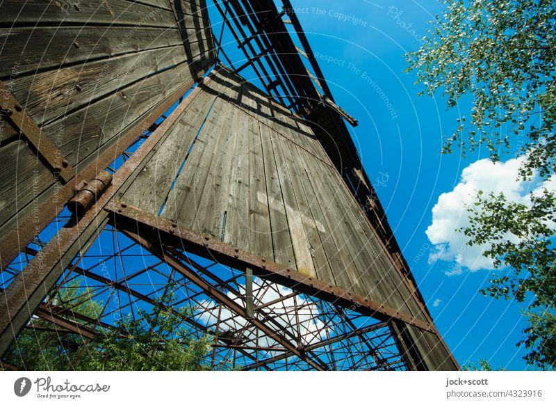 Lost Land Love | loses Portal mit Zeichen in natürlicher Umgebung Hangar Holztor verfallen lost places Architektur Halle Gebäude Ruine Zahn der Zeit