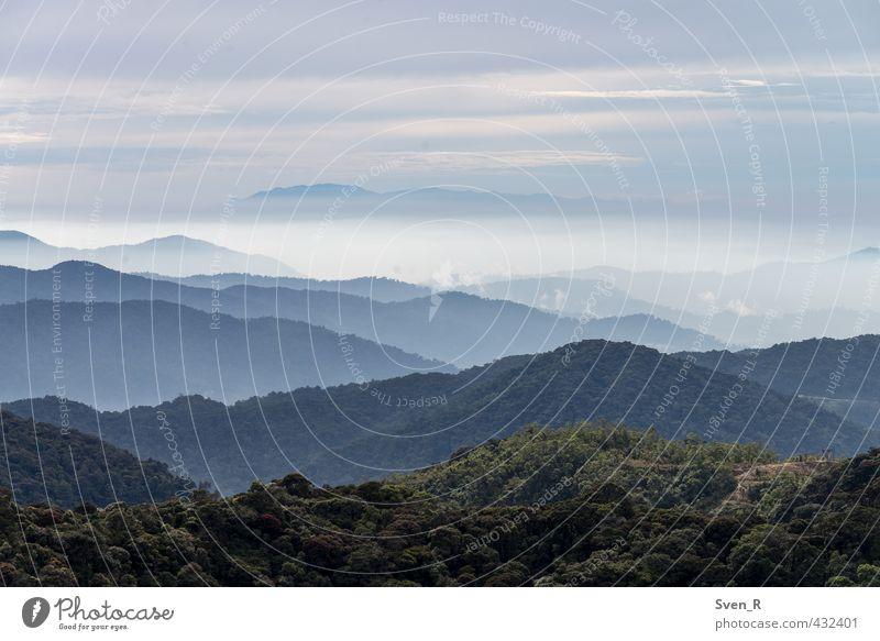 Gunung Brinchang Himmel Einsamkeit Landschaft Wolken Ferne Berge u. Gebirge Horizont Luft Klima frisch Abenteuer Unendlichkeit Asien Malaysia