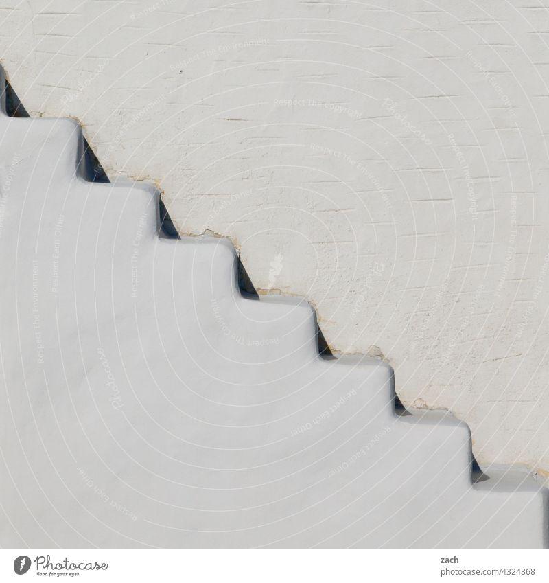 Schritt für Schritt Kykladen Kykladenarchitektur Griechenland Insel Gebäude Haus Treppe stufen Treppenstufen Treppenabsatz treppen steigen aufwärts abwärts