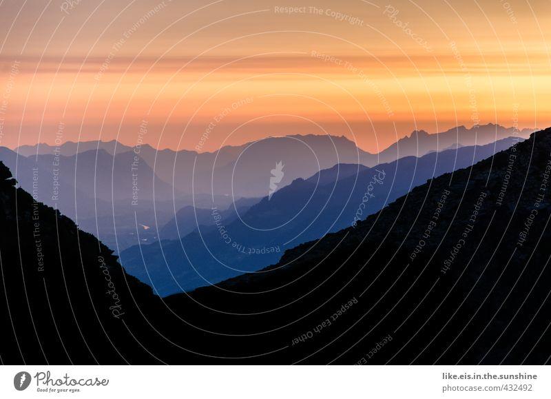 frühmorgendliches gipfelglück II Freizeit & Hobby Ferien & Urlaub & Reisen Tourismus Ausflug Abenteuer Ferne Freiheit Sommer Berge u. Gebirge wandern Umwelt
