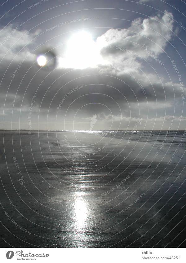 Amrum Strand Wasser Sonne Wolken Ferne Wassertropfen Linse