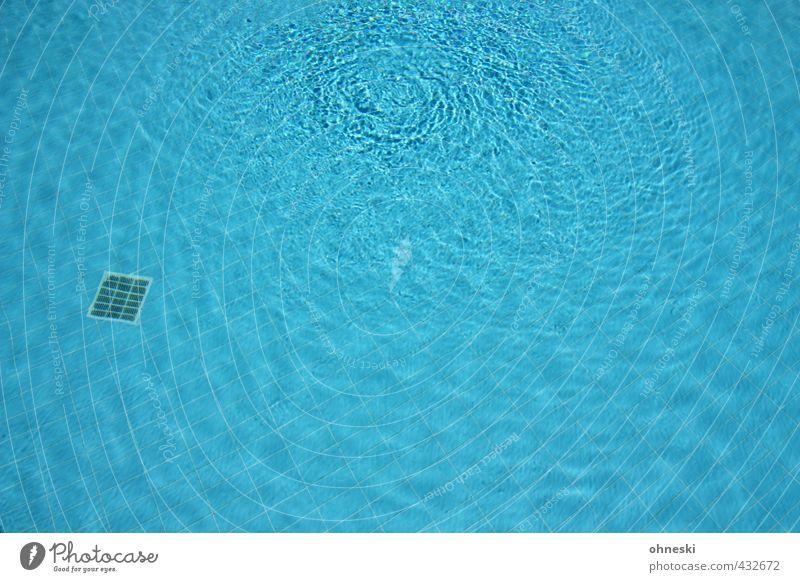 Abkühlung Sport Fitness Sport-Training Schwimmen & Baden Sportstätten Schwimmbad Wasser Flüssigkeit nass blau frisch Gesundheit Sommerurlaub Farbfoto