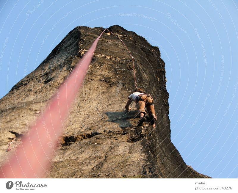 toprope klettern im elbsandstein Elbsandstein Sächsische Schweiz Top Kletterseil Extremsport Klettern