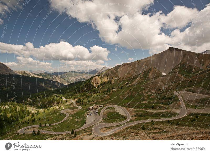 Col d'Izoard Ferien & Urlaub & Reisen Tourismus Ausflug Sommer Sommerurlaub Umwelt Natur Landschaft Pflanze Himmel Wolken Schönes Wetter Alpen Berge u. Gebirge