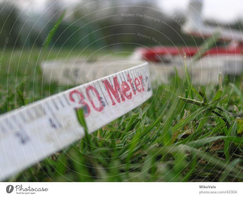 Vermessen! grün Schilder & Markierungen Schnur Rasen Spielfeld Meter Leistung Maßband