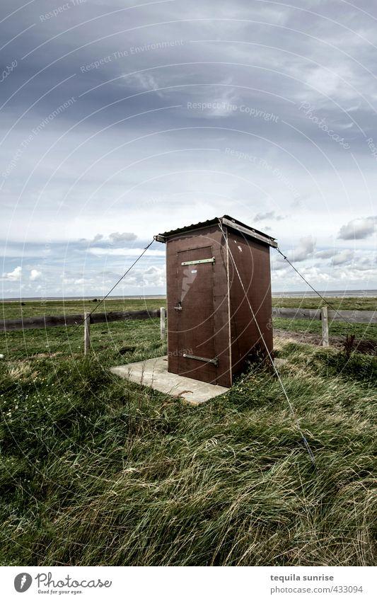 Die dreckigste Toilette Schottlands... Umwelt Natur Landschaft Himmel Wolken Gras Insel Neuwerk Fischerdorf Leuchtturm Außentoilette Garten blau braun grau grün