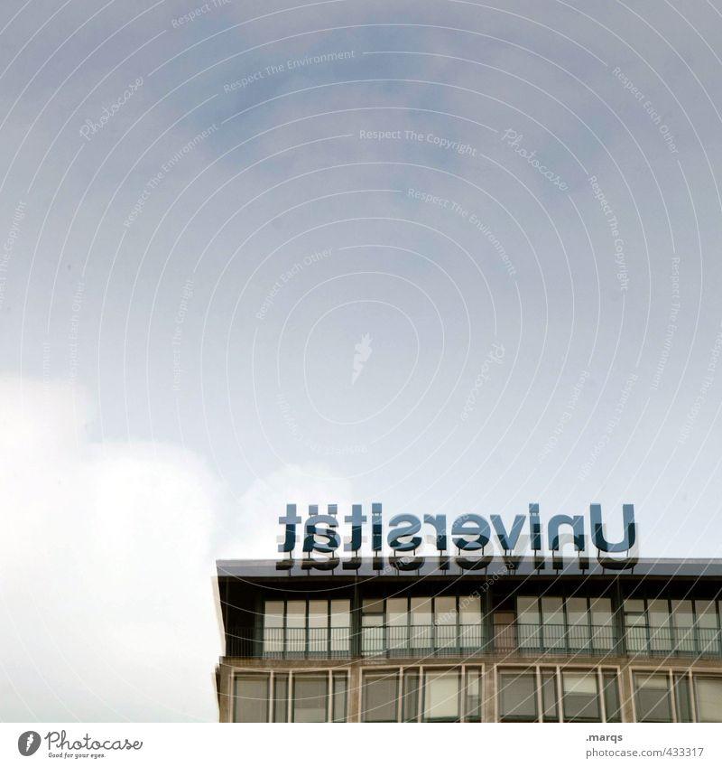 tätisrevinU Bildung Studium lernen Prüfung & Examen Karriere Himmel Wolken Gebäude Schriftzeichen Farbfoto Außenaufnahme abstrakt Menschenleer