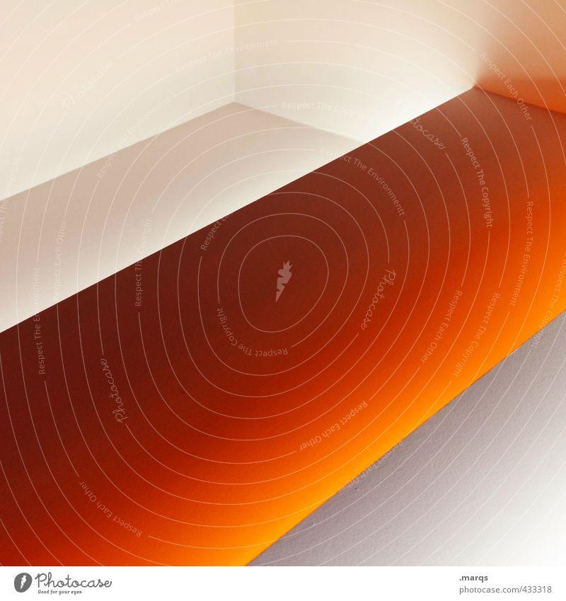 Underscore Lifestyle elegant Stil Design Innenarchitektur Kunst Architektur Streifen leuchten außergewöhnlich Coolness eckig trendy neu Sauberkeit orange weiß