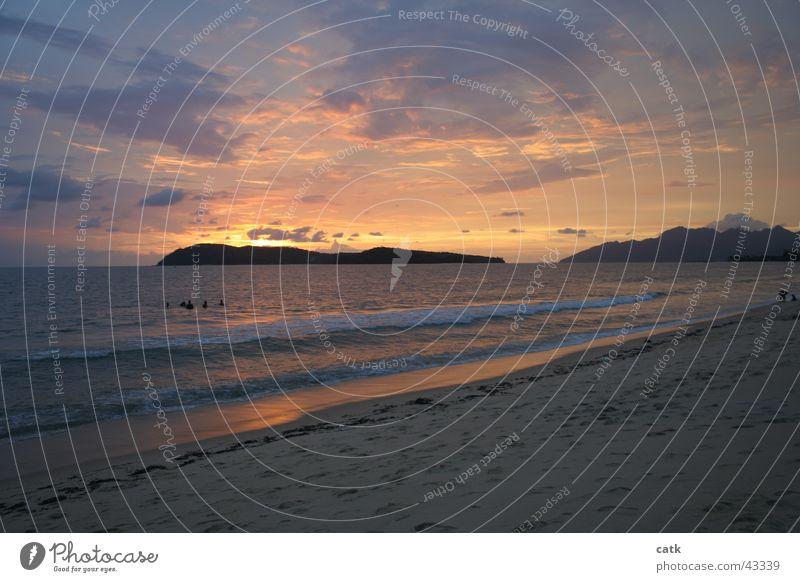 Langkawi Wasser Meer Strand Wolken Glück Sand Horizont Wellen natürlich Insel Romantik Asien Flut Malaysia
