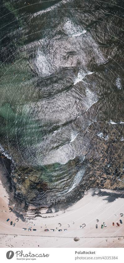 #A# Strand & Küsten Überflieger Wellen Wellenform Wellenlinie Wellenschlag swell period Surfen Surfer Surfbrett Surfschule surface Oberfläche Vogelperspektive