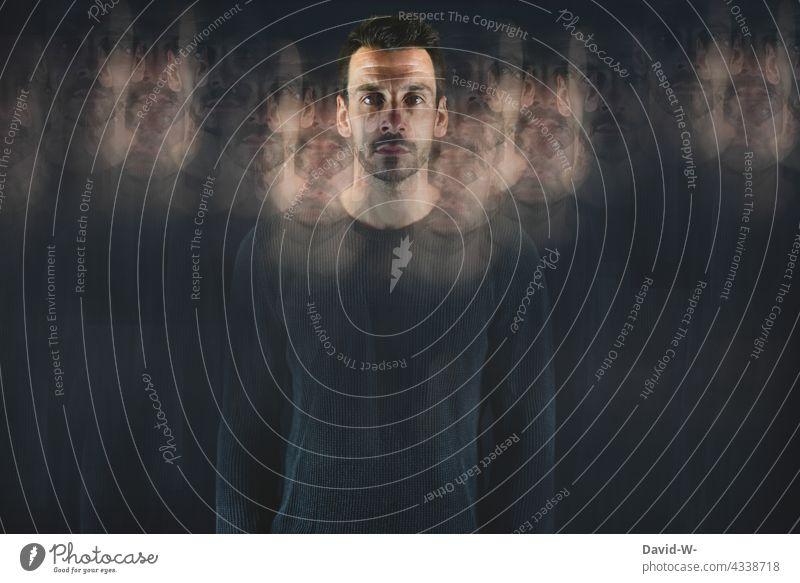 surreal - Mann mit Seele - übertragung & vervielfältigen Geistesabwesend Surrealismus verschwommen Künstlerisch psyche abstrakt Körper Krankheit