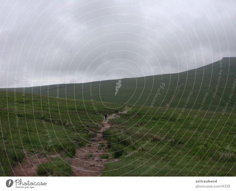 The Way to the Top Park Highlands Wales grün National Mountain Berge u. Gebirge