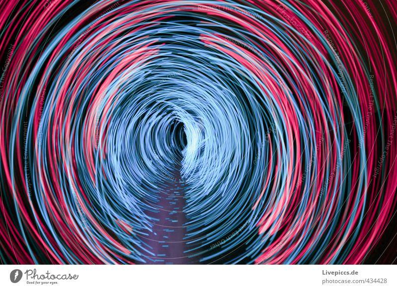 shadow rodden Mensch maskulin Mann Erwachsene Körper 1 30-45 Jahre Kunst Maler drehen leuchten blau rosa Lichtspiel Lichtmalerei Farbfoto Außenaufnahme