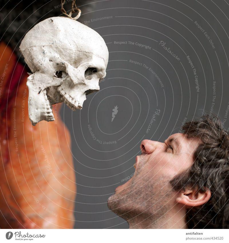 Schrei, so lang du kannst! Mensch Jugendliche Mann Erwachsene Gesicht Junger Mann dunkel Auge Tod Haare & Frisuren Kopf außergewöhnlich maskulin Haut Mund