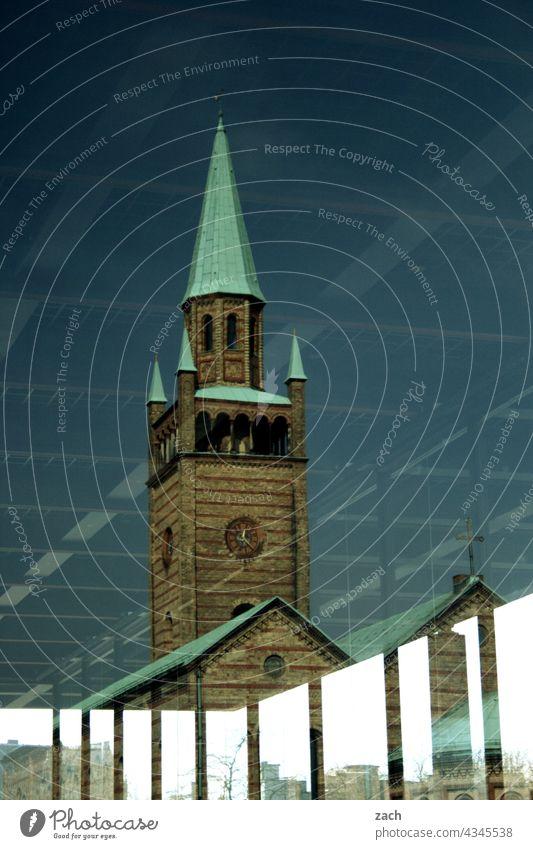 religiöse Strukturen Reflexion & Spiegelung Kontrast Strukturen & Formen Muster Religion & Glaube retro kalt historisch Hoffnung blau Linie Sehenswürdigkeit