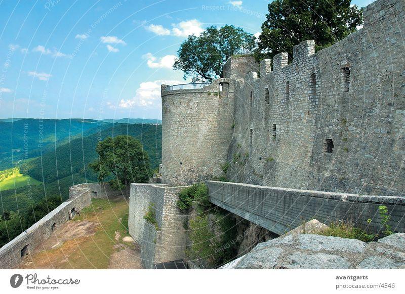 Ruine Gebäude Architektur Berge u. Gebirge Landschaft Burg oder Schloss