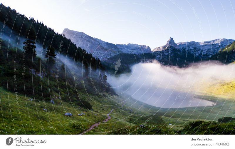 Funtensee im Morgennebel am Könnigsse wandern Umwelt Natur Landschaft Pflanze Urelemente Wolkenloser Himmel Sonnenaufgang Sonnenuntergang Sommer Klima