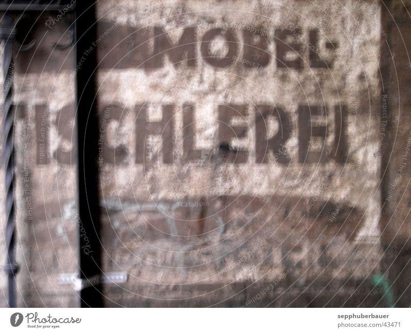 beschriftung II Handwerk Schilder & Markierungen Beschriftung historisch grau Hausbemalung