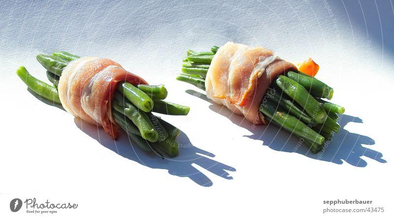 bohnen & speck Bohnen Speck Fleisch Schweinefleisch Schinken Ernährung frisch Gesundheit Fisolen Brechbohnen Sonne Lebensmittel