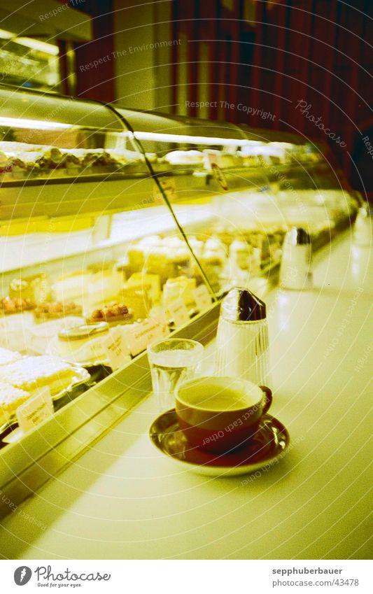 Melange Stimmung Kaffee Gastronomie Café Kuchen Mischung Theke Wien Torte Mahlzeit Kaffeetrinken Heißgetränk Kaffeehauskultur