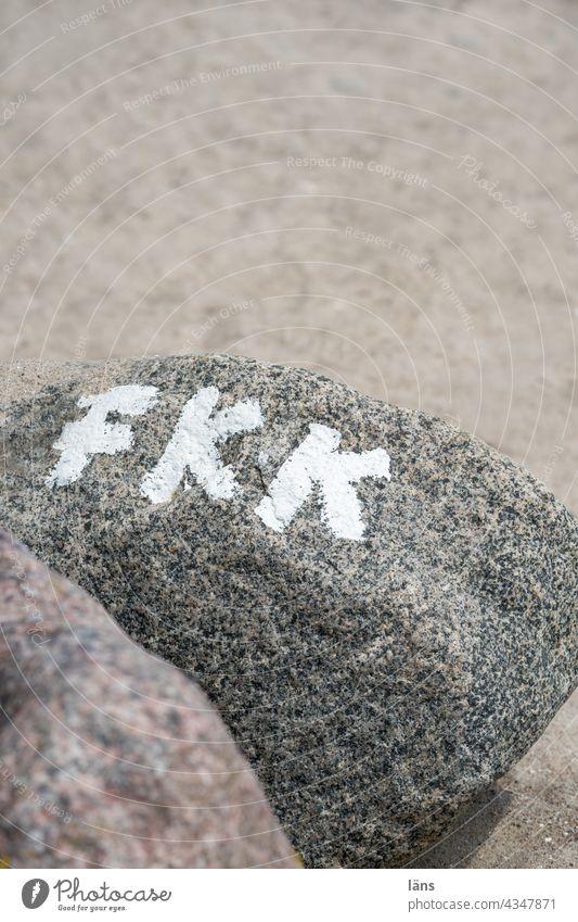 FKK - große Freiheit FKK-Strand Meer Ferien & Urlaub & Reisen Tag Sand Schrift Buchstaben Freikörperkultur Naturismus