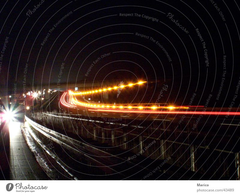 Autobahndekoration dunkel Verkehr Autobahn Verkehrsstau Lichterkette