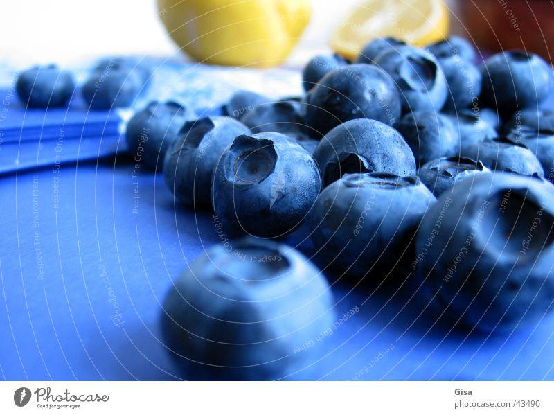 Heidelbeer-Gruppe Gesundheit Frucht Gastronomie Stillleben Zitrone Zitrusfrüchte Serviette