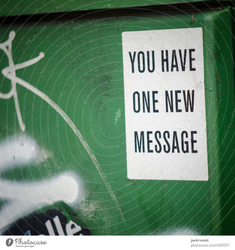 ((( Tri-Tone ))) Telekommunikation Internet Straßenkunst Kunststoff Graffiti Text lesen modern positiv grün Interesse Kommunizieren Kreativität Netzwerk Ziel