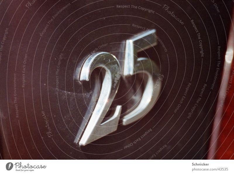 25 Ziffern & Zahlen Dinge PKW
