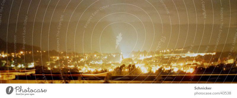 Ilmenauer Skyline Stadt Architektur Nachtaufnahme