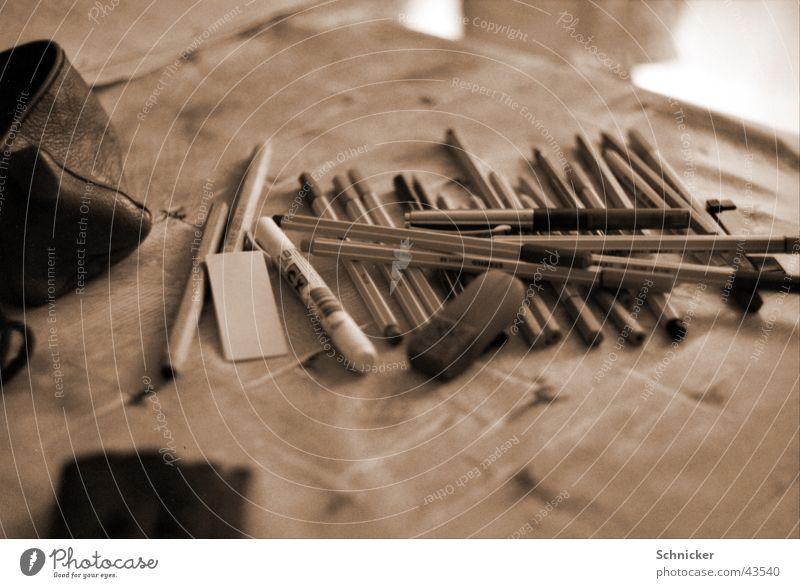 Stifte Büro streichen Schreibstift zeichnen Kugelschreiber Radiergummi Fineliner