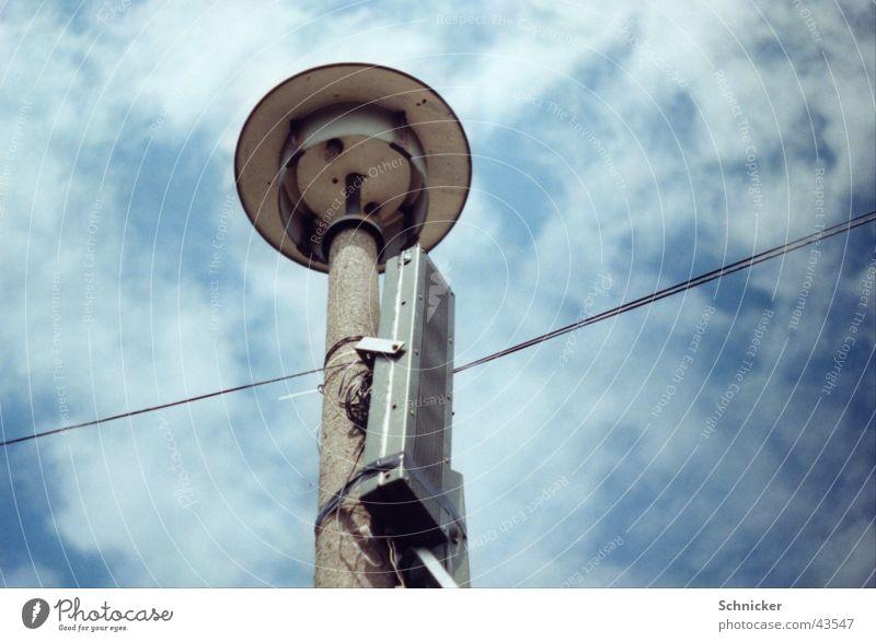 DDR Straßenlampe Lampe Laterne Lautsprecher historisch DDR Straßenbeleuchtung