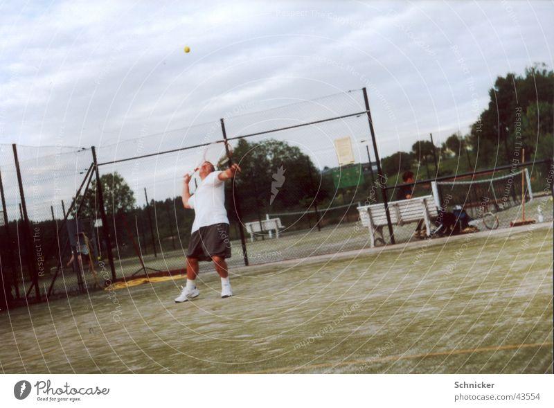 Aufschlag Sport Spielen Tennis Schlag Aufschlag