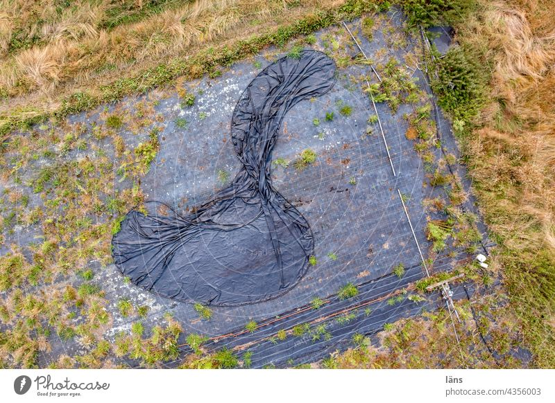 Plastikfolie in der Landwirtschaft Strukturen & Formen Natur nahrungsmittelproduktion Drohnenansicht Menschenleer Vogelperspektive Drohnenaufnahme Drohnenbilder
