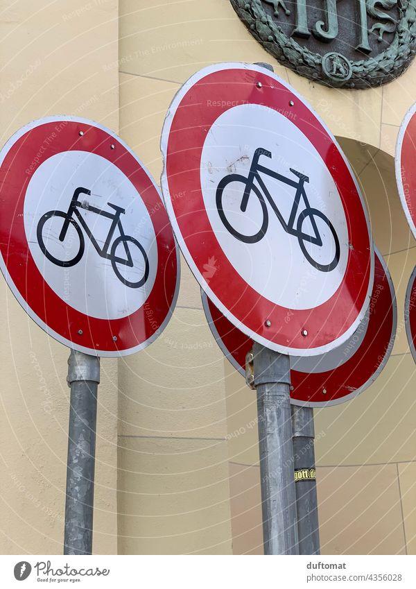 Fahrrad Verbot Verkehrsschilder Verkehrsmittel Verkehrszeichen Fahrradfahren Fahrradtour Fahrradweg Rad radfahrer Radfahren Radweg Verbote Verbotsschild