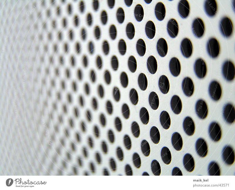 Lochblech grau Technik & Technologie Punkt Reihe Loch diagonal Lochblech Brennpunkt Elektrisches Gerät