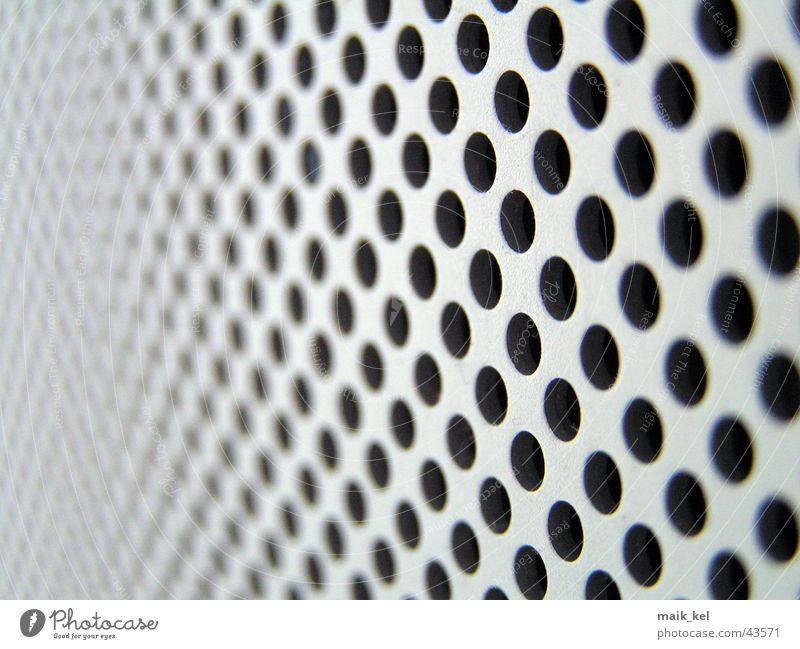 Lochblech grau Technik & Technologie Punkt Reihe diagonal Brennpunkt Elektrisches Gerät