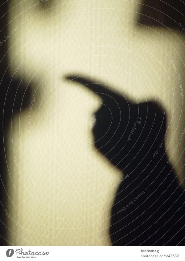 zeiger Mensch Hand weiß schwarz Wand Raum Arme Tapete Richtung links Zeigefinger
