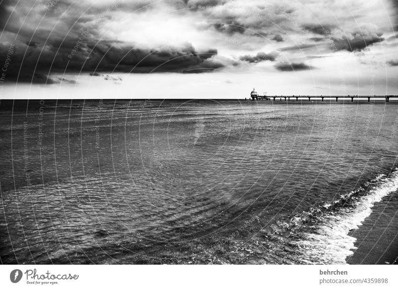 weitsicht Tauchgondel Tauchglocke Sandstrand Strandsand Zinnowitz Seebrücke Erholung Deutschland Tourismus Sommer Mecklenburg-Vorpommern Ostseeküste