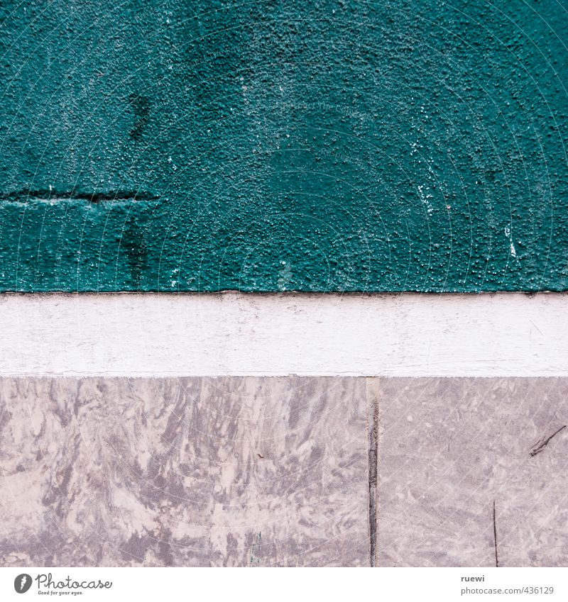 Mauer alt weiß Farbe Wand Architektur grau Stein Linie Fassade Häusliches Leben trist ästhetisch einfach Baustelle fest